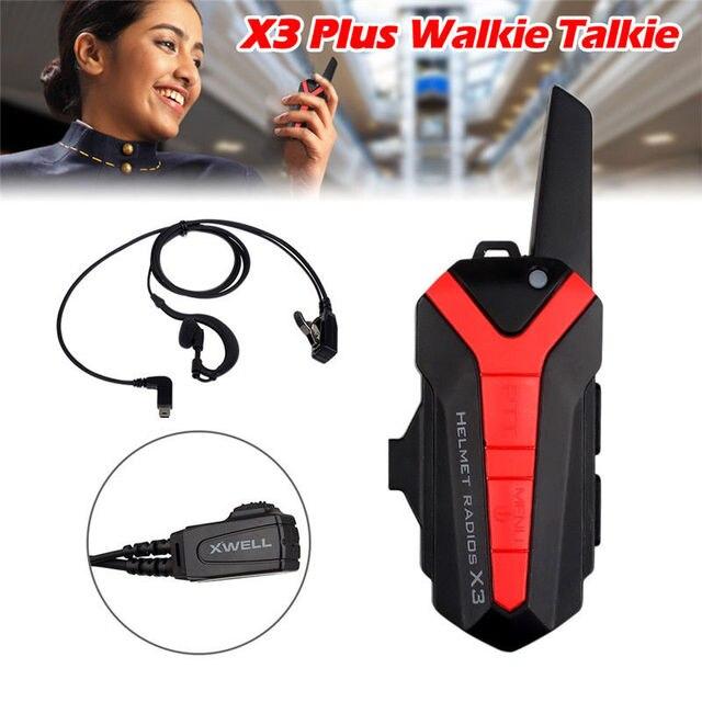 Free ship! X3 Plus Mini Walkie Talkie speaker group talk with metal clip Intercom + headset portable earpiece business version