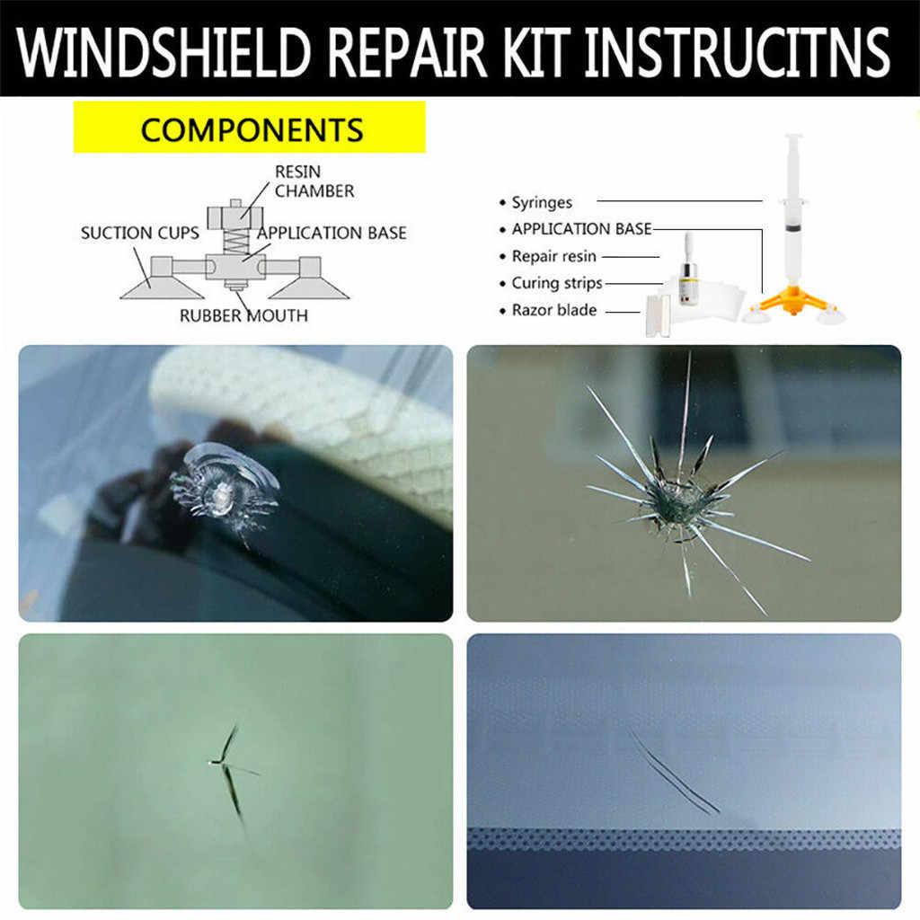 שמשות שמשה קדמית תיקון כלי סט DIY לרכב רוח זכוכית עבור שבב סדק סיטונאי רכב חלון תיקון כלי סט