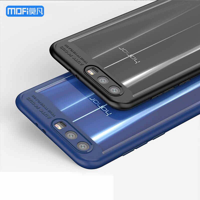 Honor 9 case for Huawei honor 9 cover transparent case hard PC soft edge blue for huawei honor9 case funda accessories 5.15""