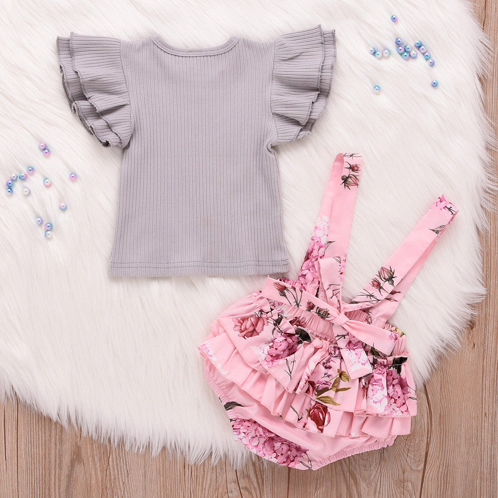 Kids Girls Clothing Sets Summer New Style Brand Baby Girls Clothes Short Sleeve T Shirt+Pant Dress 2pcs Children Clothes Suits