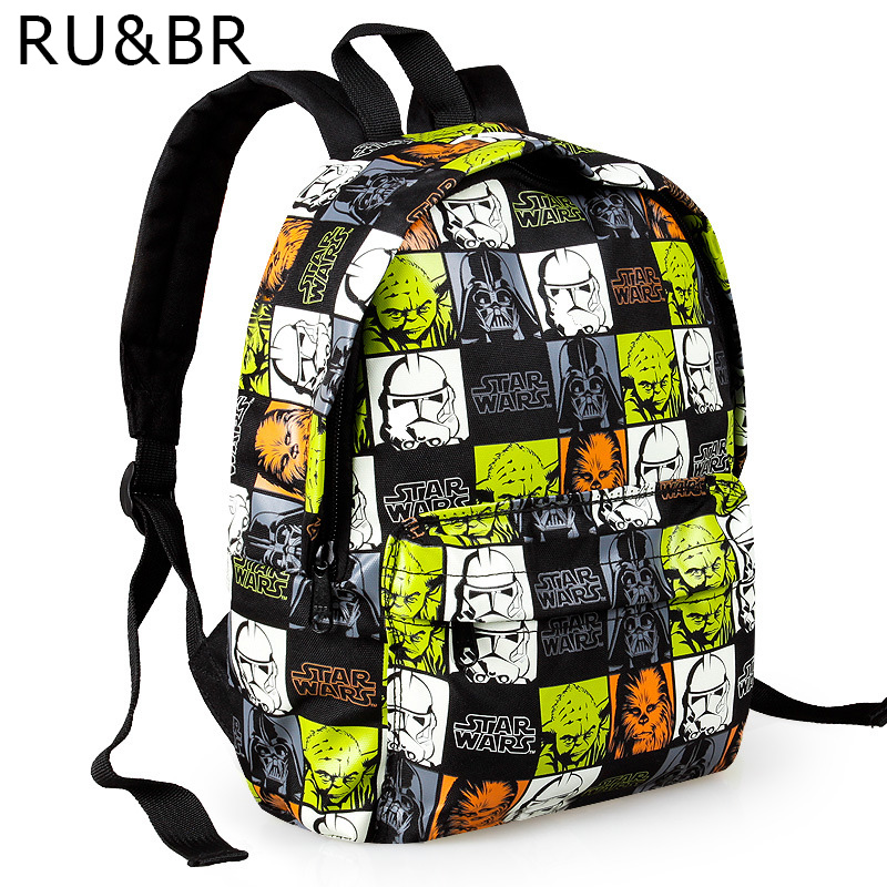 RU&BR New Arrival Star Wars Cartoon Printing Backpack School Bags Hot Sale Little Kids Satchel Student Boy Schoolbag Travel Bags high q cartoon rick and morty 2017 new arrival backpack students couple printing candy color leisure bags