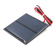 1pc x 5.5V 80mA with 30cm extend wire Solar Panel Polycrystalline Silicon DIY Battery Charger Small Mini Solar Cell cable toy