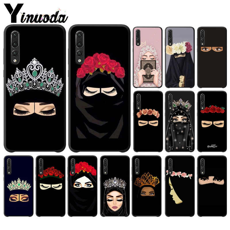 Yinuoda Muslim Islamic Gril Eyes Phone Cover for Huawei P10 plus 20 pro P20 lite mate9 10 lite honor 10 view10