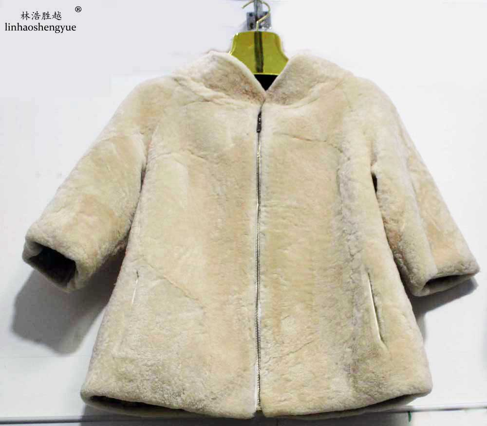 Linhaoshengyue 2017 spring new fashion lady sheep shearing coat spring autumn winter fashion freeshipping fashion new spring