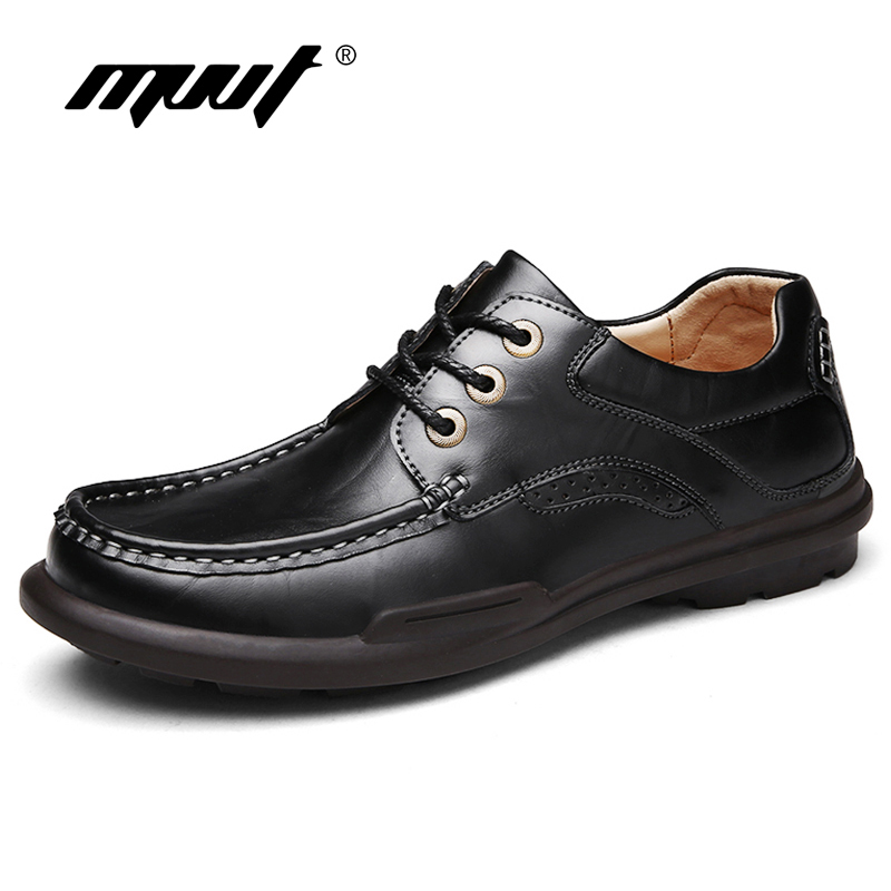 MVVT 2016 Autumn Casual Leather shoes Genuine Leather Men Shoes Men flats shoes black soft and comfortable insole Casual shoes cbjsho brand men shoes 2017 new genuine leather moccasins comfortable men loafers luxury men s flats men casual shoes