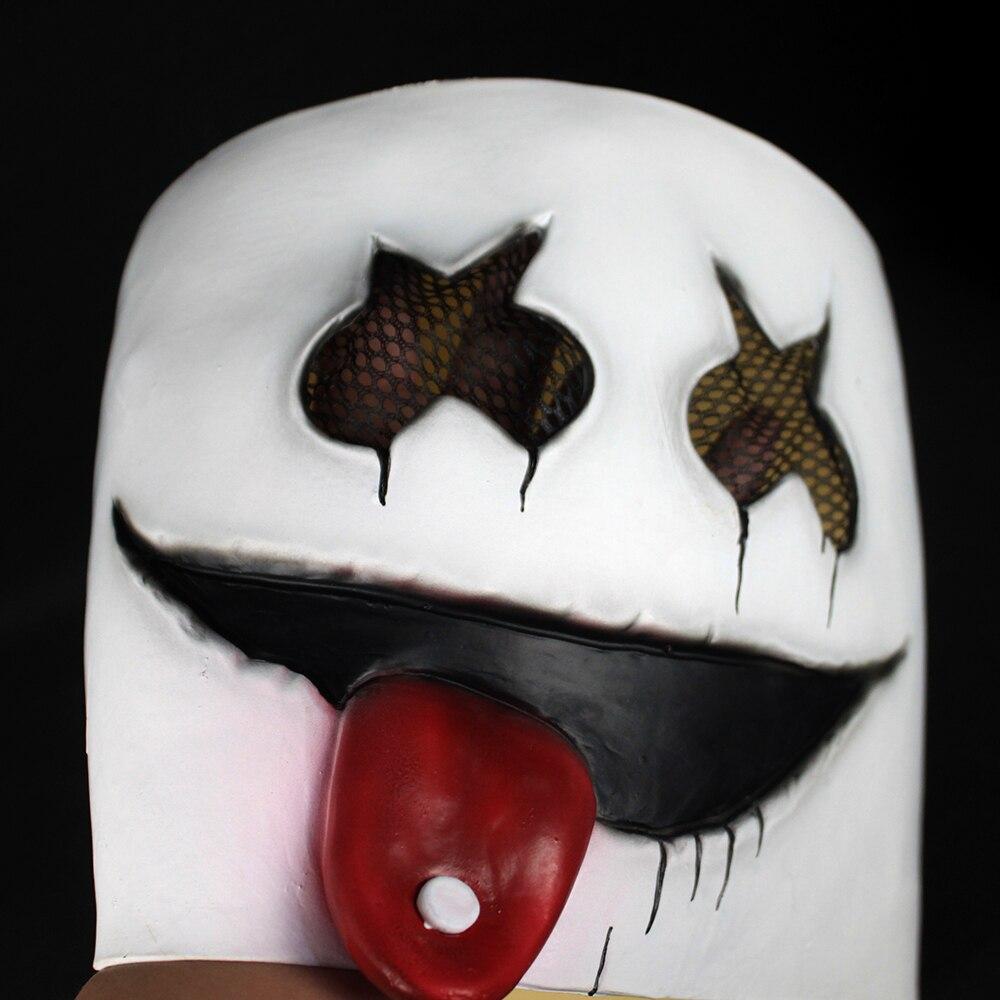New DJ Marshmello Mask Cute DJ Marshmello Nightclub Helmelt Latex Masks Concert Christmas Halloween Carnival Party Prop Dropship5