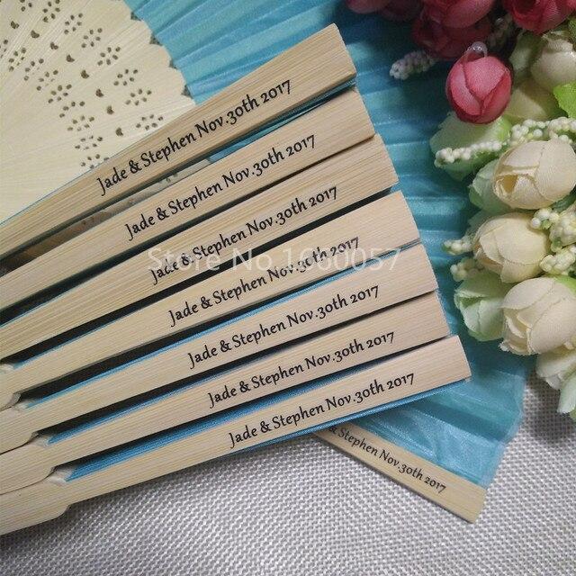 130pcs Personalized Wedding Cloth Fan Wedding Favor Gift Hand