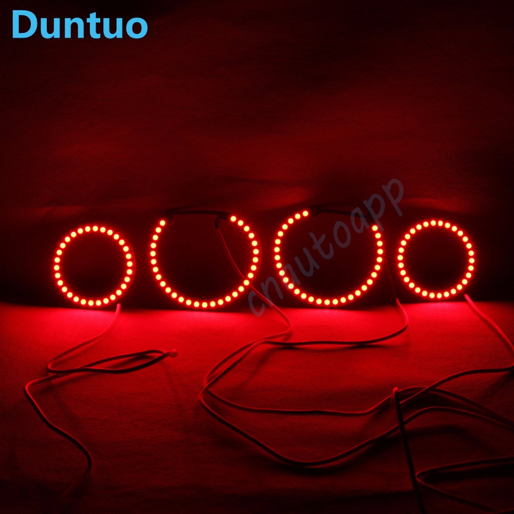 RGB Angel Eyes Car Headlight Halo Ring Bluetooth Wireless RF IR Controller DRL For Mazda 6 Angel Eyes M6 2003-2007 One Set tcart car headlight rgb angel eyes auto app drl halo ring crystal angel tear eye car motorcycle with lampshades for audi a3 8p