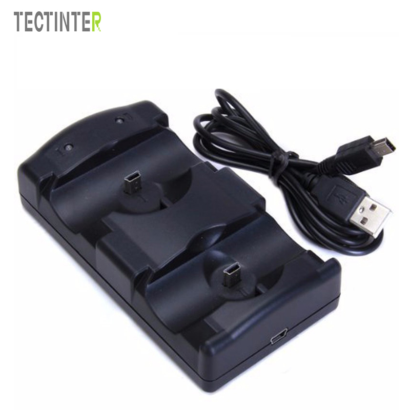 For Sony PS3 Controller Dual Charger USB Cable Powered Charging Dock For Playstation 3 Move Joystick Gamepad Controle цена