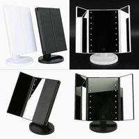 2017 Three Folding Table LED Lamp Luminous Makeup Mirror Magnification Mirror Adjustable Tabletop Countertop Light Mirror