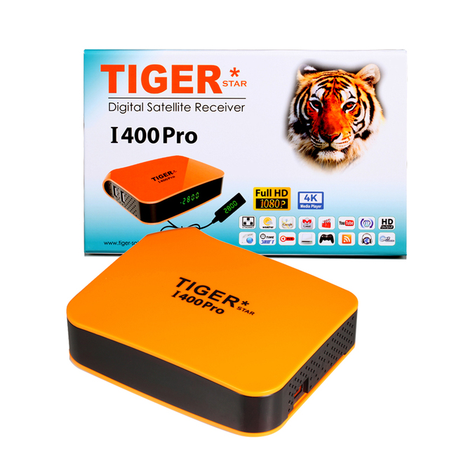 US $149 0 |TIGER I400PRO Arabic IPTV Subscription Satellite Receiver  Support 4K Display DVBS2 Full HD Digigtal TV BOX-in Satellite TV Receiver  from