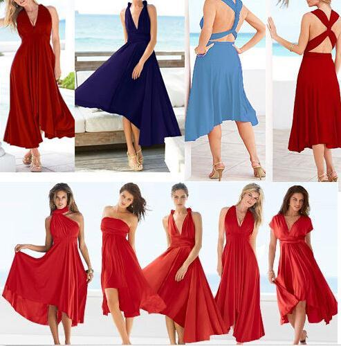 3c8ae1f374b5 Women Boutique Korean sexy dress Maxi tunic Flirty Multi Way Wrap  Convertible Infinity Variety Swing dresses-in Dresses from Women's Clothing  on ...