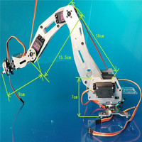 6 DOF robot arm six axis Manipulators industrial robot model robot without controller MG996R
