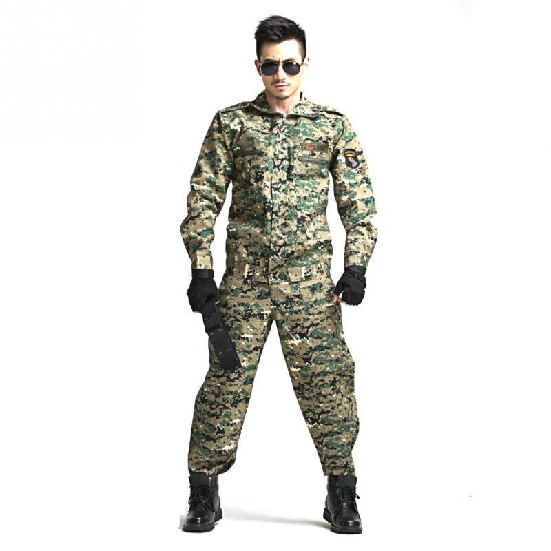 Camouflage Suits Clothing-Set Training-Uniform Combat Hunting Tactical CS