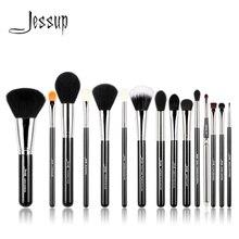 Jessup pinceaux 15 pièces pinceaux de maquillage professionnels ensemble outils de beauté maquillage brosse cosmétique fond de teint Eyeliner