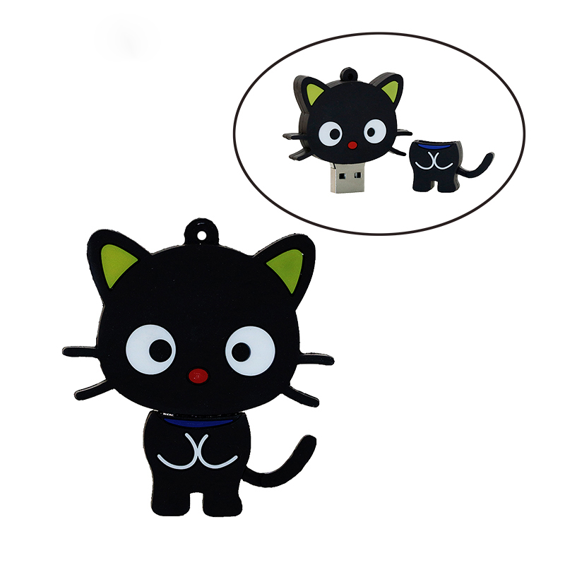 Cute Cartoon Cat USB zibatmiņas disks Memory Stick Pendrive USB Stick Pen Drive 32GB 16GB 8GB 4GB zibatmiņas karte