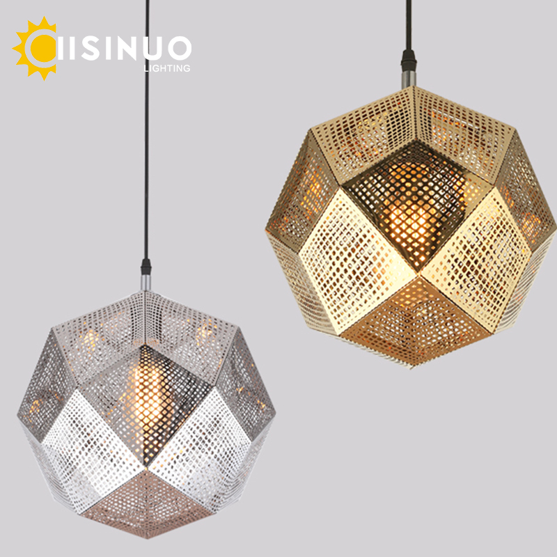 Modern Industrial Plating Ball Pendant Lamp Gold/Silver Stainless Steel Art Geometry Net Lighting Hotel/Restaurant Decoration серьги art silver art silver ar004dwzmh30