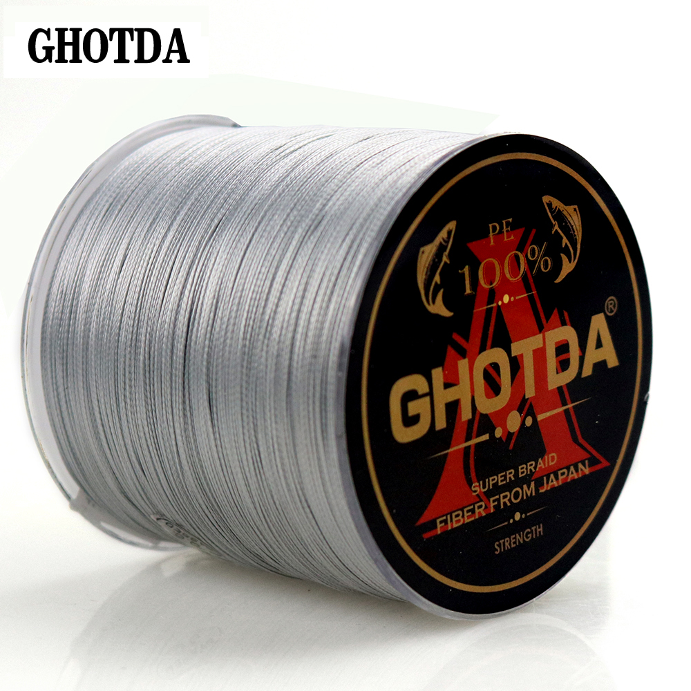 GHOTDA 300M 8 Strands 10-78LB New PE Braided Fishing Wire Multifilament Super Strong Fishing Line Japan Multicolour