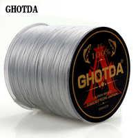 GHOTDA 300 м 8 нитей 10-78LB Новый PE плетеный рыболовный провод многофиламентная супер сильная рыболовная леска Япония многоцветная