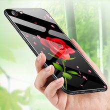 Tempered glass Case for VIVO Y71 Y 71 Beautiful Pattern Stylish Back Cover Hard Case for VIVO Y71 Soft Bumper Case VIVOY71 купить недорого в Москве