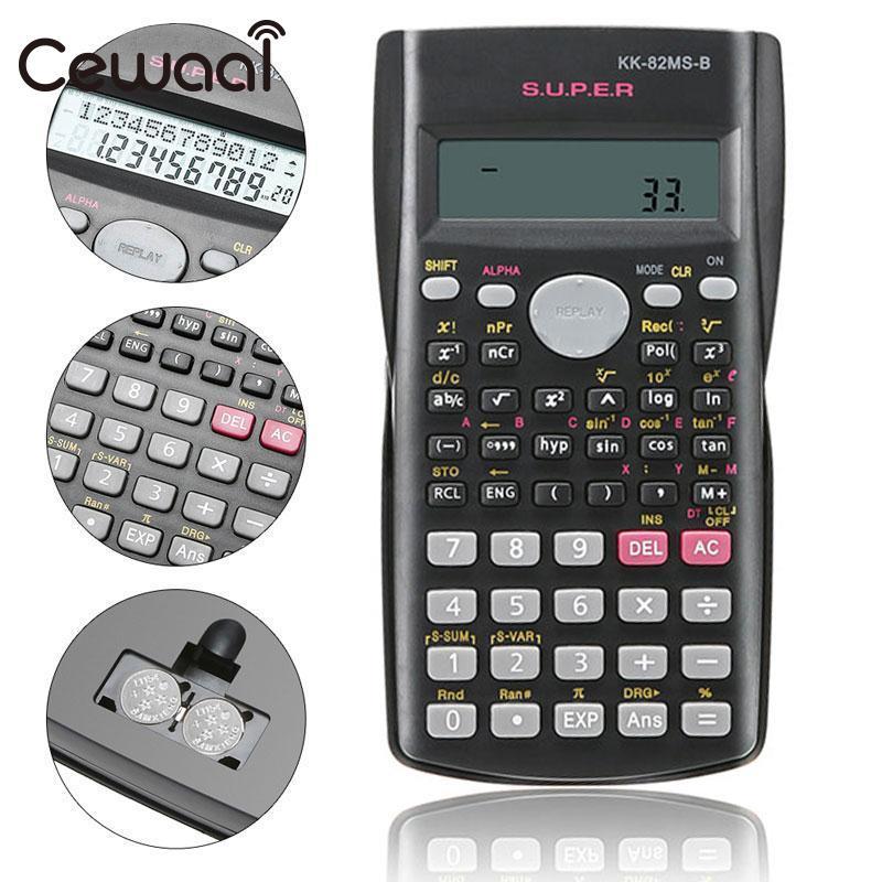 Cewaal 82ms-a 2 линии Дисплей научный калькулятор Портативный Handheld Многофункциональный цифровой для Пособия по математике обучение студентов