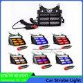 18 LED de Emergência Do Veículo Luzes Estroboscópicas Brisas Painel Do Carro Flasher Carro Luzes de Advertência Da Polícia Vermelho Âmbar Branco Para Ambulância