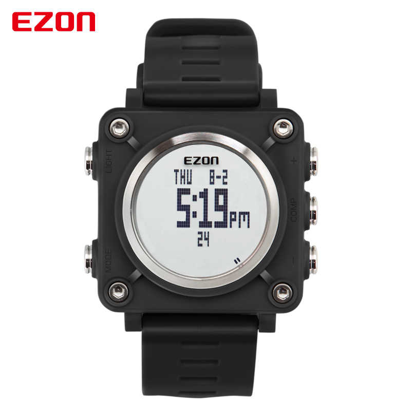 EZON Outdoor Sports Digital Watch 2019 New Men's Fashion Casual Waterproof Multi-functional   Stopwatch Compass Watches L012