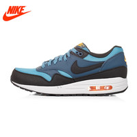 Original New Arrival Authentic NIKE Breathable Air Max 1 Men's Running Shoes Sneakers Blue Red and Yellow 537383