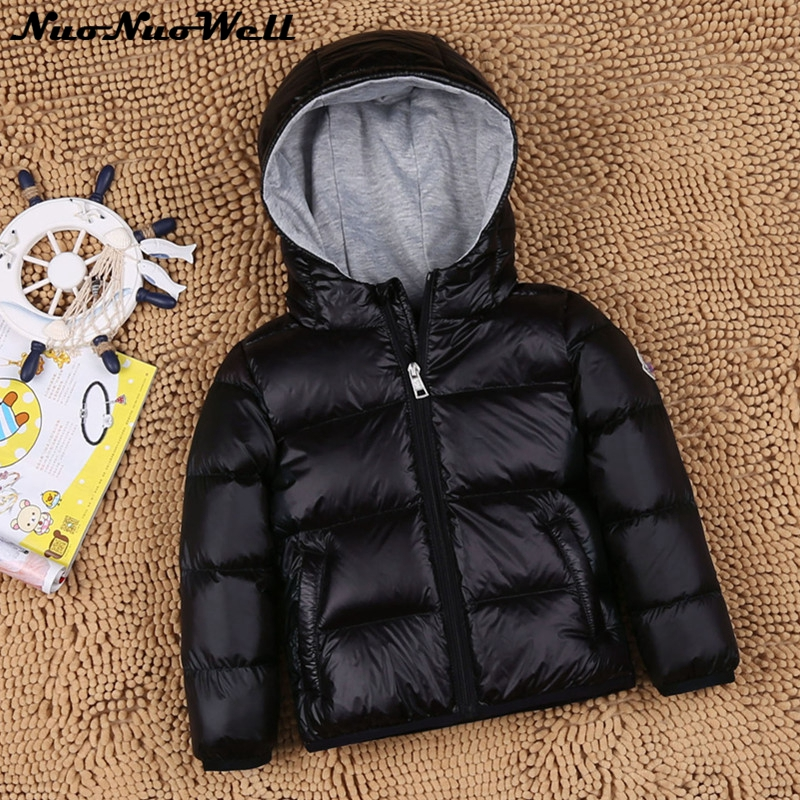 Thick Children's Feather Down Jacket for Boys&Girls White Dark Down Parkas Winter Warmly Kids Coat  Teenager Kids Snowy Outwear russia winter boys girls down jacket boy girl warm thick duck down