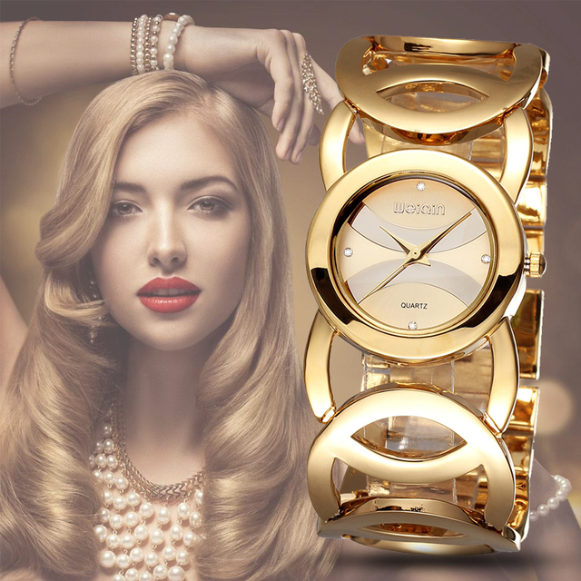 Women Watches Color Forever Gold Luxury Brand Bracelet Watch Women Dress Stainless Steel Ladies Watch Girl Relogio Feminino