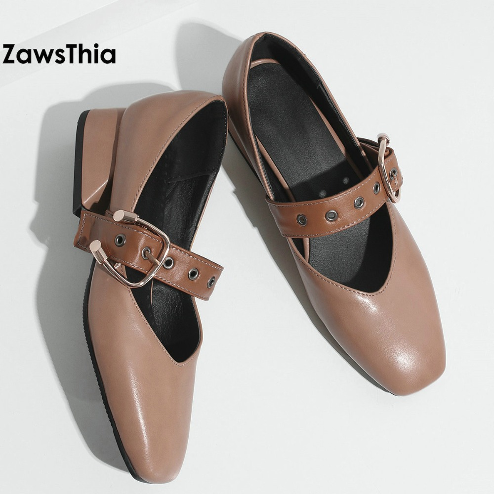 ZawsThia 2018 spring autumn charm sweet shoes for woman mary janes women hoof low heels lady pumps shoes with buckle strap 44 sweet loafers women heels shoes for spring women ballet shoes breathable heels shoes autumn shoes orientpostmark