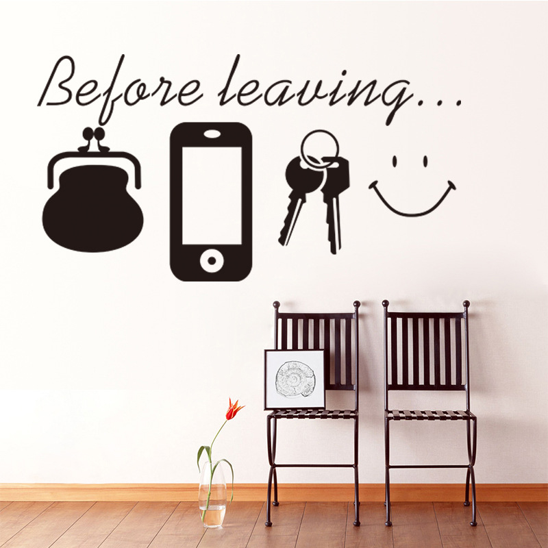 Creative English Wall Stickers Before Leaving Proverbs Wall Sticker Living Room Classroom Office Adornment Wall Sticker