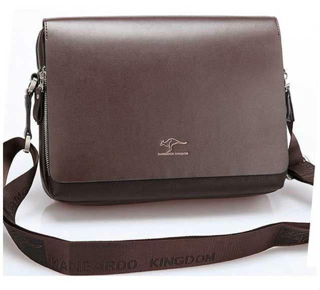 Free Shipping Authentic Kangaroo Large Men S Leather Shoulder Messenger Bag