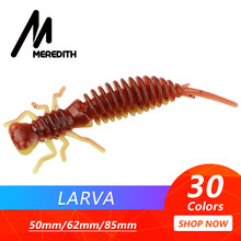 MEREDITH Larva Soft Lures 50mm 62mm 85mm Artificial Lures Fishing Worm Silicone Bass Pike Minnow Swimbait Jigging Plastic Baits(China)