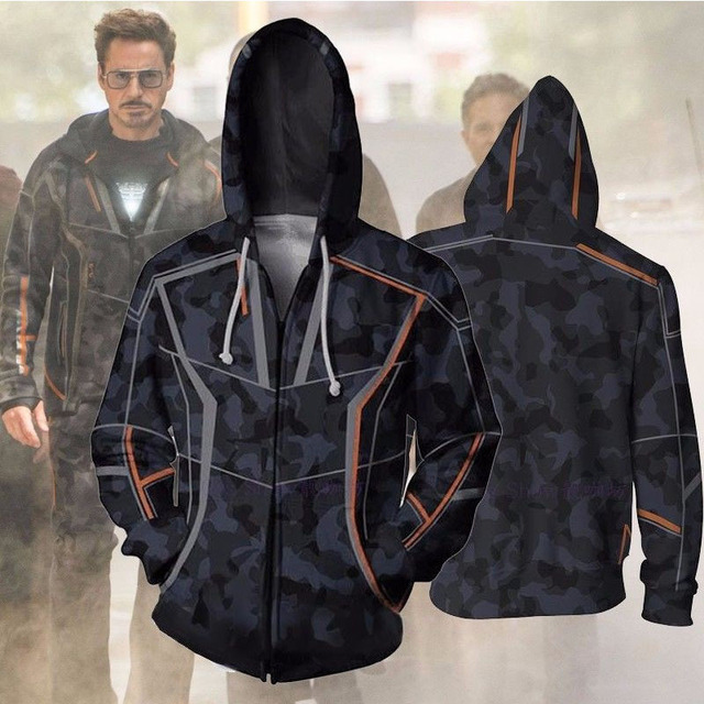 672044223 Avengers 3 Infinity War Iron Man Tony Stark Hoodie Sweatshirt For Men 3D  Print Hoodies Streetwear Casual Cospaly Hoodies