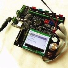 МКС Gen V1.4 Integrated Материнская плата + МКС MINI12864LCD панели DIY Beginer комплект RAMPS1.4 MEGA2560 все в них плата коссель комплекты