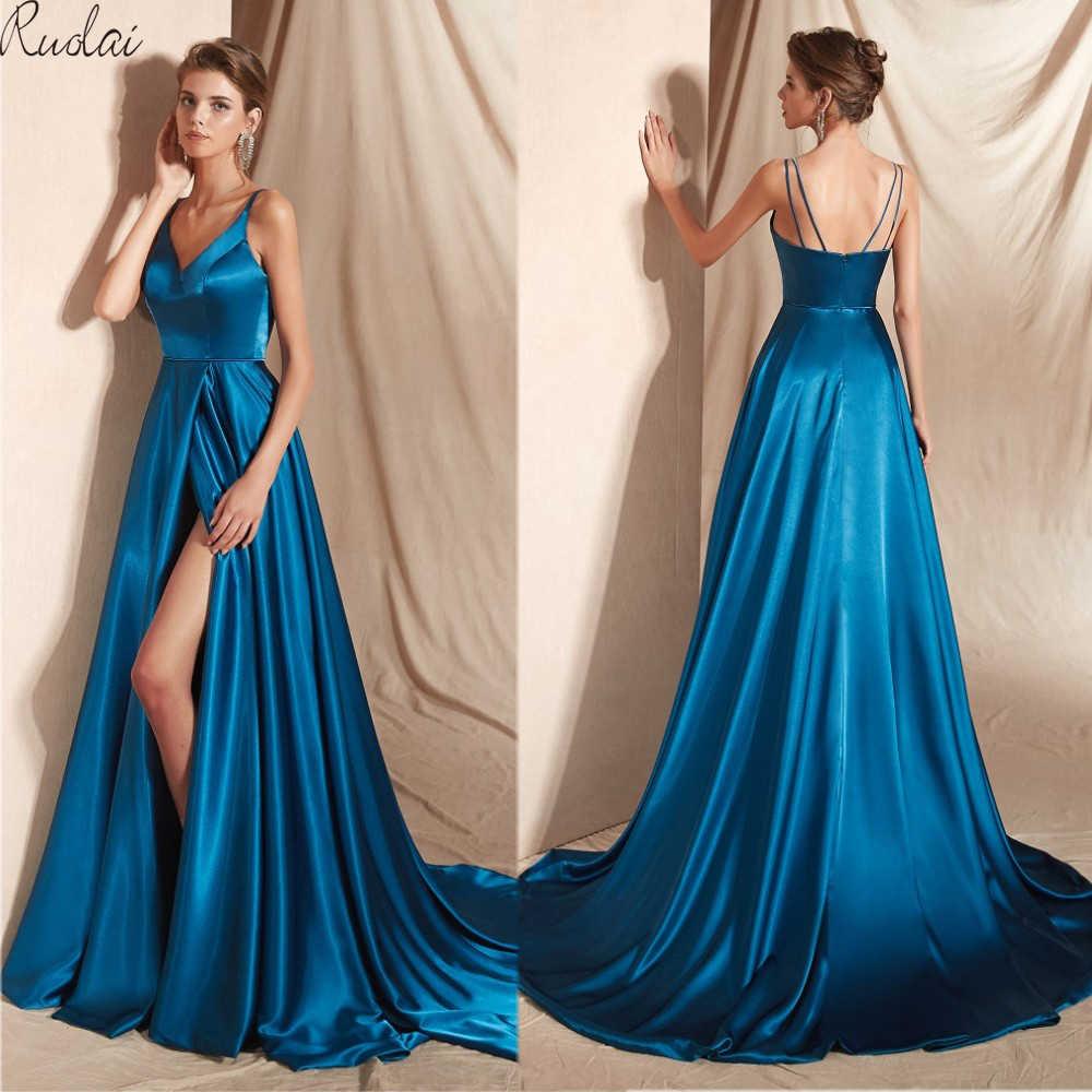 Reflected material Long Evening Dress 2019 Front Slit Train Sleeveless Evening  Gown For Women Formal Dress 2311c9157417