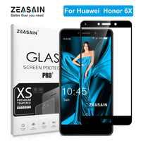 """ZEASAIN Cover Gehärtetem Glas für Huawei Honor 6X6 X Honor6X Displayschutzfolie 5,5 """"echt 2.5D 9 H Hohe Qualität Glas Film"""
