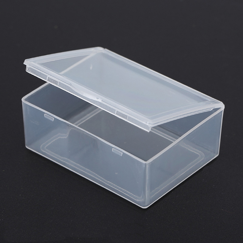 50pcs Lot Small Rectangular Box Transpa Plastic Storage Collections Container Case For S Coins In Bo Bins From Home Garden