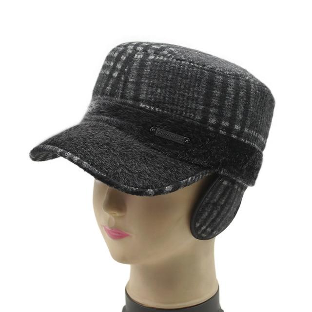 New brand woolen ear protection male baseball cap quinquagenarian winter warm wool hat old man outdoor thermal hat woolen cap