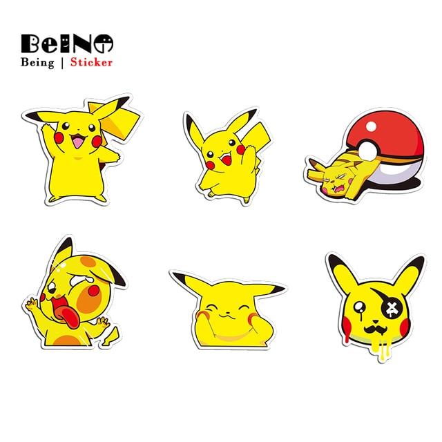 Pikachu Phim Hoạt Hình Sticker Dễ Thương Phim Hoạt Hình Helloketty Mickey Va Li Không Thấm Nước Máy Tính Xách Tay Đàn Guitar Hành Lý Skateboard Đồ Chơi Đáng Yêu Dán