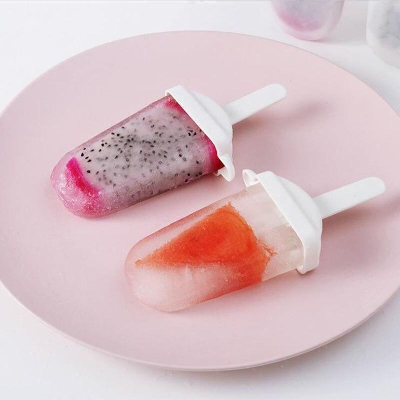 4 ячейки простая форма для изготовления мороженого производители пластиковый толстый материал DIY формы ледяные кубики формы для десертов кухонный инвентарь коврик