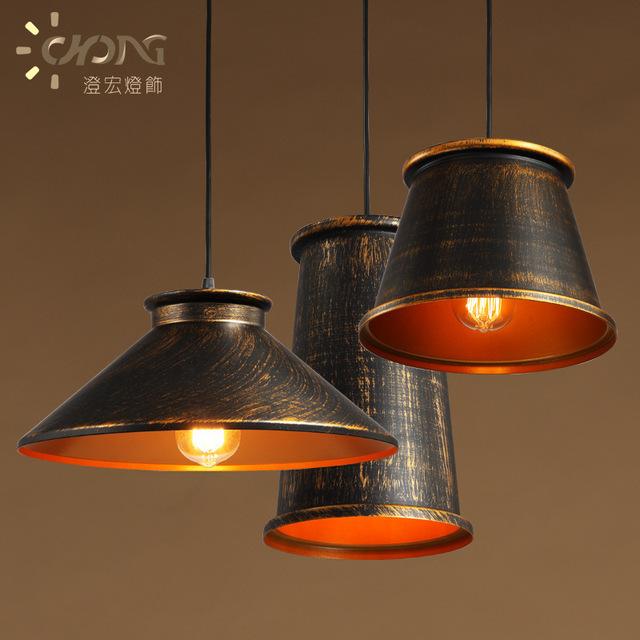 Suporte Da Lâmpada de Iluminação Pingente de Metal Industrial do vintage Pingente de Luz Luzes Do Corredor Americano Edison Lâmpada do Bulbo 110 V-220 V WPL150