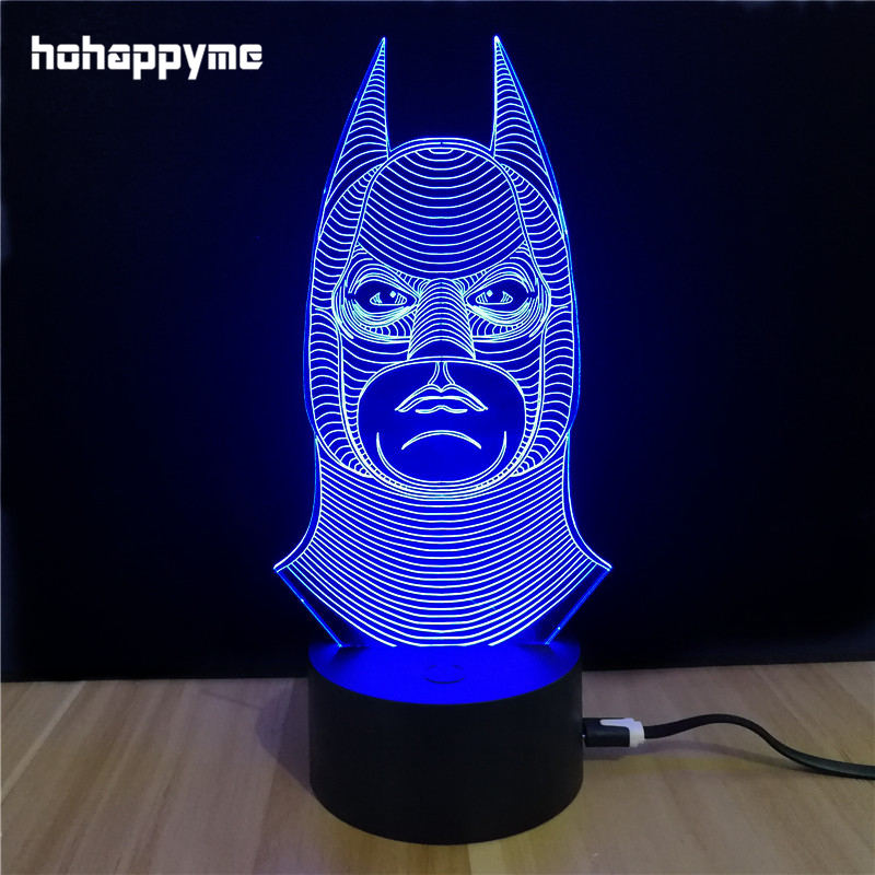 Batman Acrylic LED Sign Lighted Neon Signs Decorative Art Signs For Home Childs Room Panels Plate Plaques Desktop Decoration