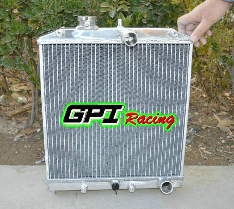 EJ EK EG DB DC For Honda Civic Manual Transmission Full Aluminum 2-Row Racing Radiator