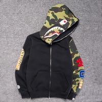 Mens Sportwear Coat Jogger Tracksuit Pullover Fleece Sweatshirt Crewneck Bird OVO Drake Black Hip Hop stusay Hoodie Shark mouth