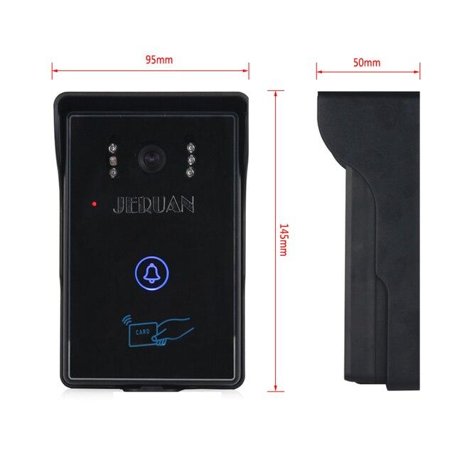 "JERUAN NEW 8"" Video Door Phone Record intercom System kit RFID Access IR Night vision Camera+700TVL Analog Camera 8GB SD Card"