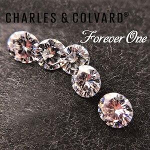 Image 4 - STARYEE Originele Charles Colvard Altijd Een Lab Grown Moissanite Gecertificeerd 2 Carat Effect 8mm VVS GHI Kleur Losse Diamant steen
