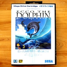 Ecco The Dolphin 16 Bit MD Game Card with Retail Box for Sega MegaDrive & Genesis Video Game console system