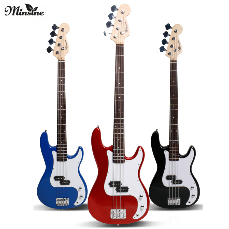 Minsine FD Electric Bass Guitar 4 Strings Active Pickups Metal Bass Guitar Musicman Metal Performance Bass GuitarMinsine FD Electric Bass Guitar 4 Strings Active Pickups Metal Bass Guitar Musicman Metal Performance Bass Guitar